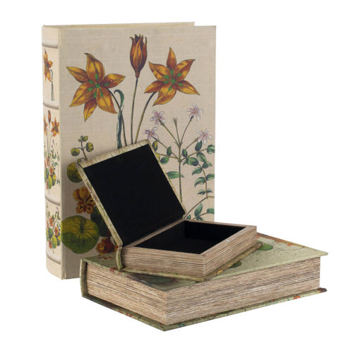 Multi-Colored 8-Inch Decorative Box ,Set of 3