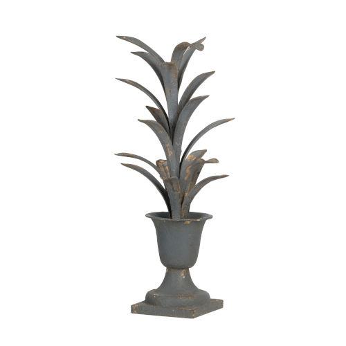 Antiqued Metal Plant Sculpture