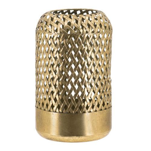 Antique Gold Round Candle Lantern