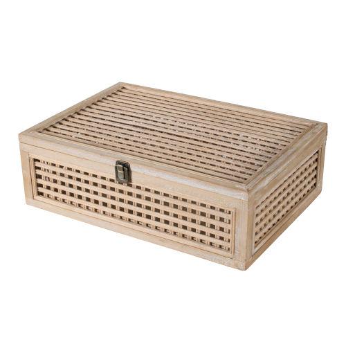 Natural Wood Decorative Box