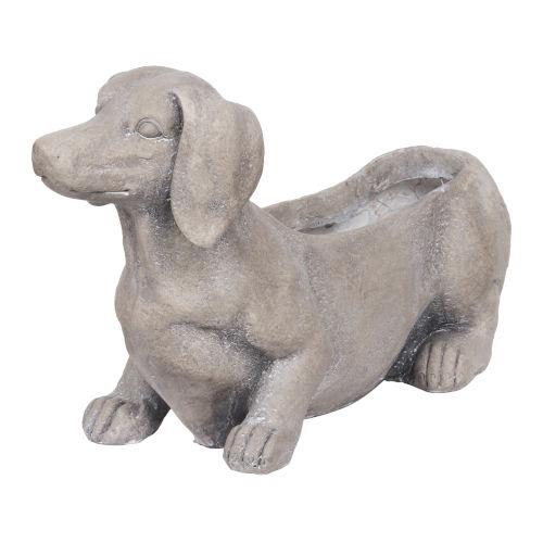 Manon Gray Dog Planter