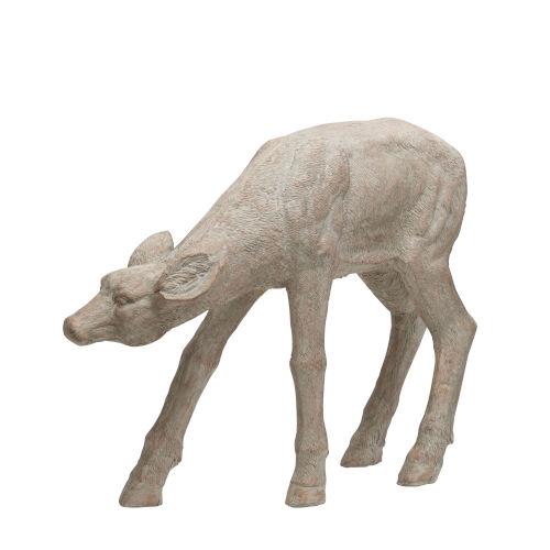 Cream Garden Naturalistic Deer Statuary