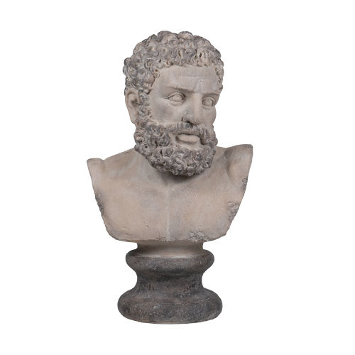 Gray Roman God Bust Statue