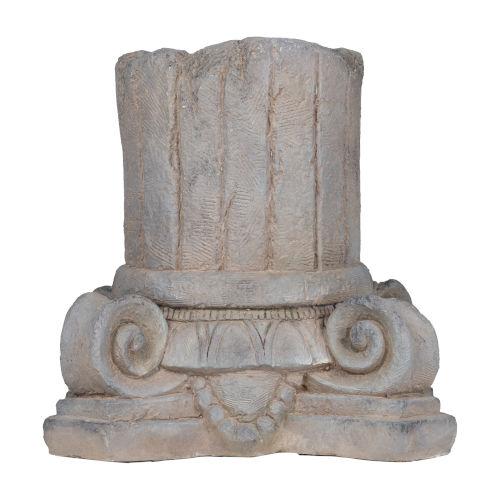 Gray Greek-Style Column Home Decor
