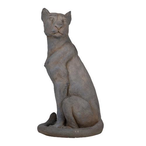 Gray Regal Jaguar Statue
