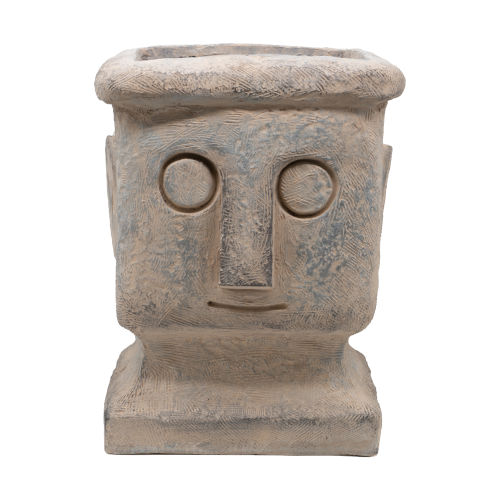Gray Stone Tribe Outdoor Plant Pot