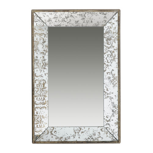 Silver Rectangular Wall Mirror