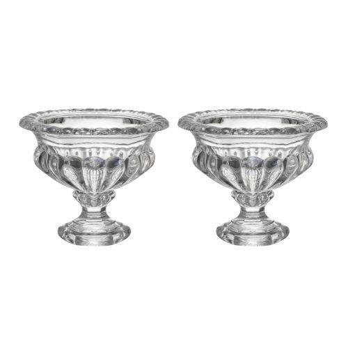 Omari Clear Crystal Display Bowl, Set of 2