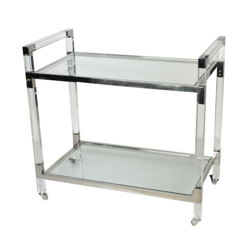 Soho Clear Bar Cart