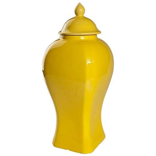Yellow 18-Inch Tall Lidded Jar