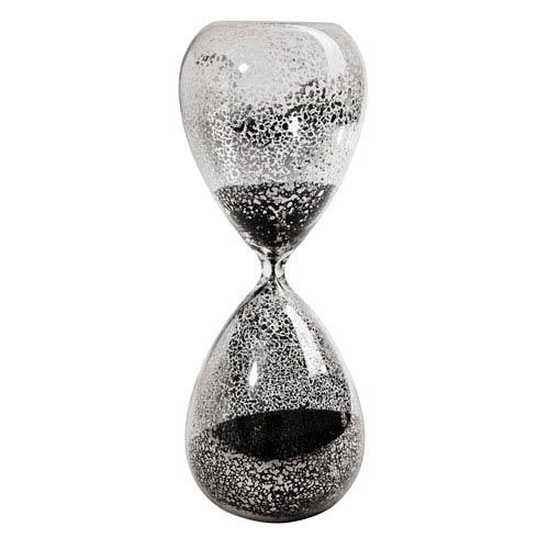 Black Mercury Glass Hour Glass