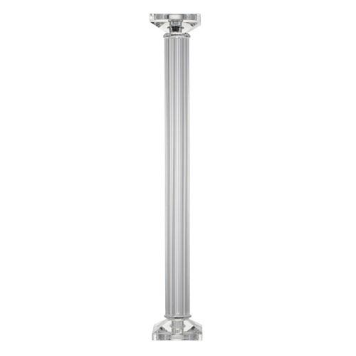 Clear 23-Inch Tall Crystal Candle Holder