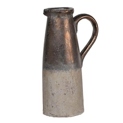 Sienna Brown Candia Ceramic Pitcher