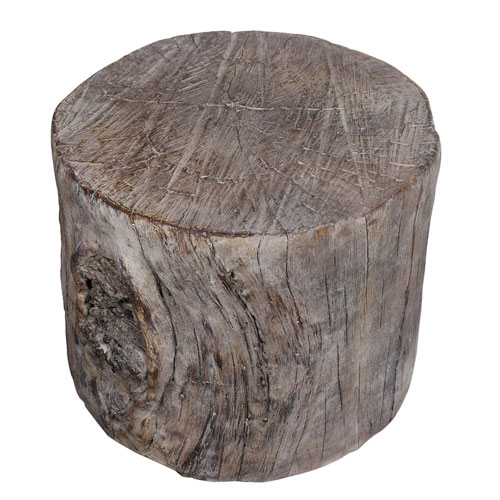White Wash Decorative Tree Stump
