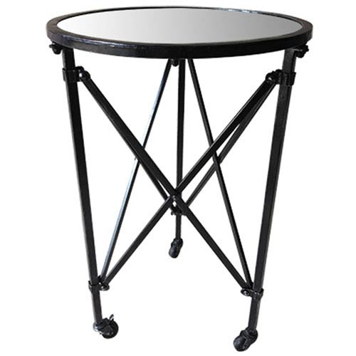 A & B Home Iron Side Table
