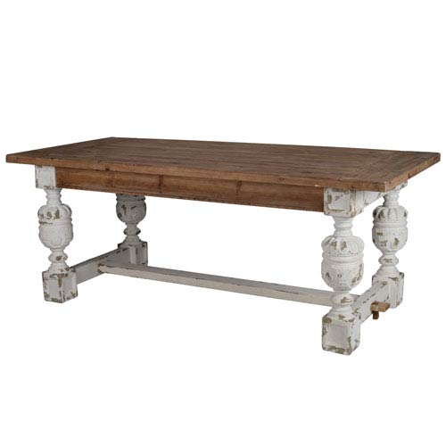 Alcott Antique White and Brown Dining Table