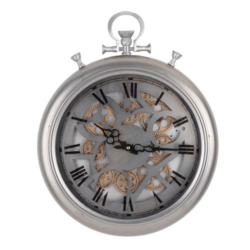 Medium Hereford Frosted Pocketed Wall Clock - Frosted
