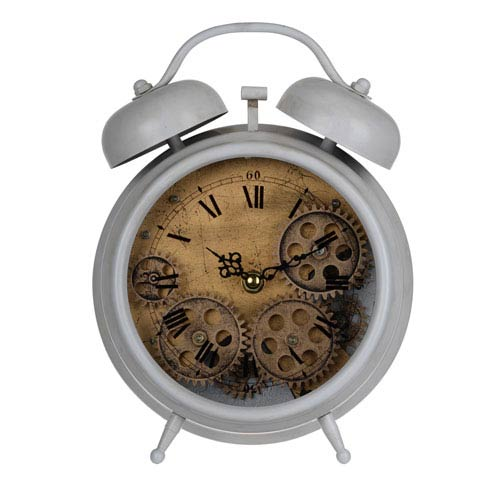 Hereford Gray Table Clock