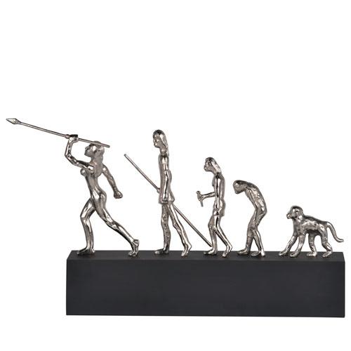 Silver Human Evolution Sculpture