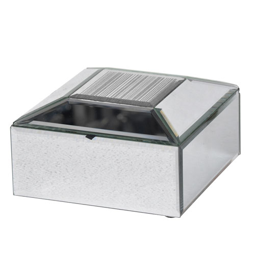 A & B Home Silver Jewelry Box