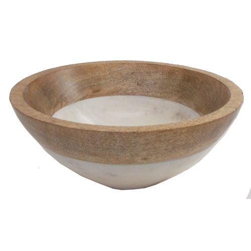 White and Brown Large Bowl