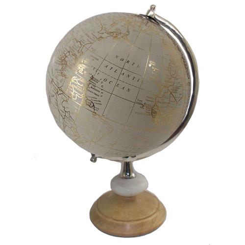 Silver Tabletop Globe
