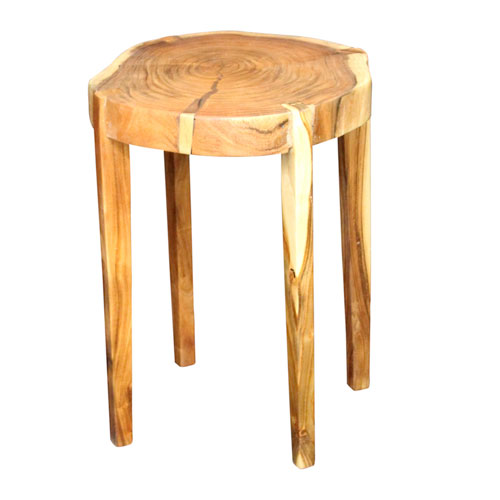 A & B Home Light Brown Wood End Table