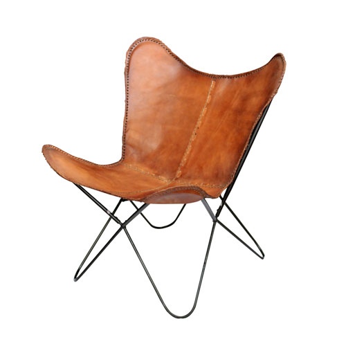 Brown Leanter Butterfly Leather Chair