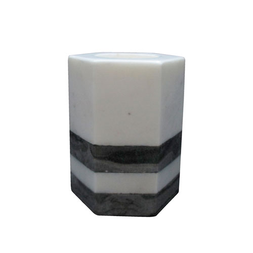 Black and White Tealight Candle Holder
