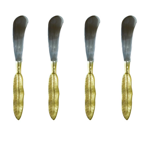 A & B Home Silver and Gold Food Spreader