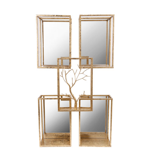 Gold Square Wall Shelf