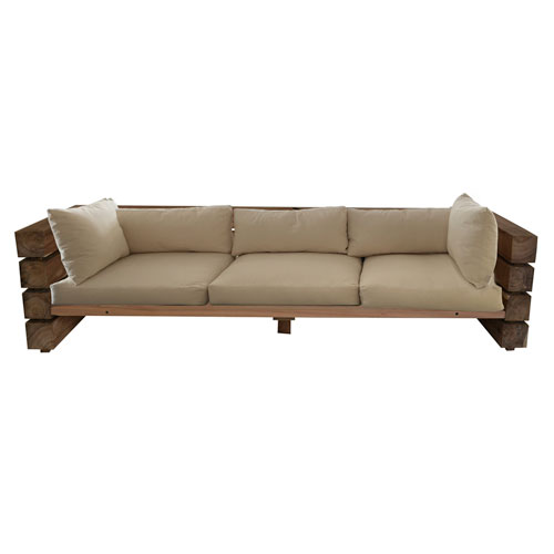 Light Brown and Beige Sofa