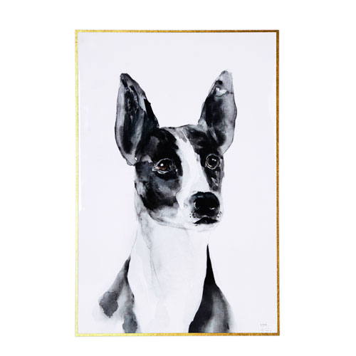 A & B Home Black and White Dog Wall Art