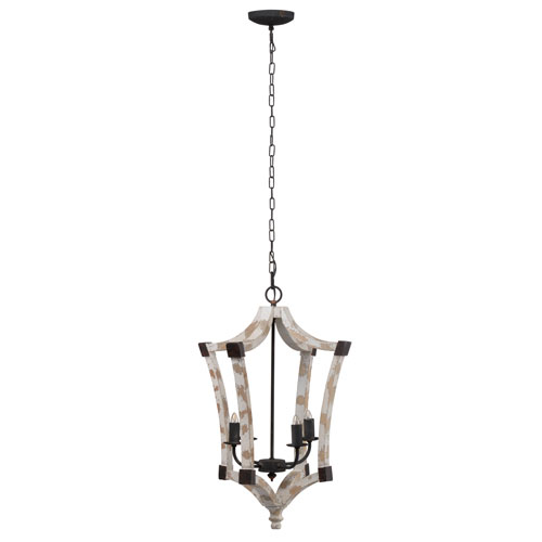 A & B Home Andreas Winged Four-Light Chandelier
