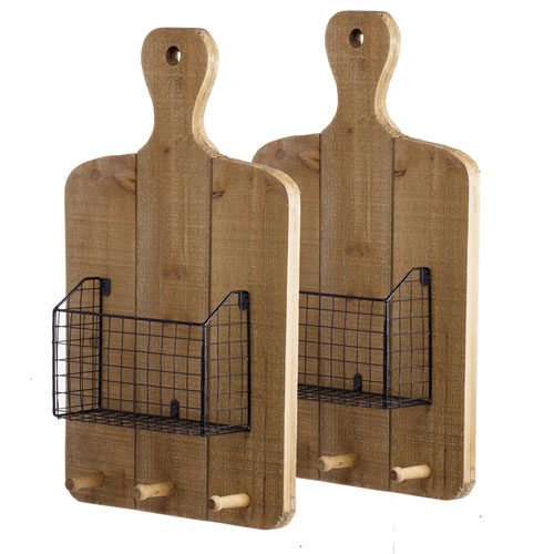 A & B Home Ellery Wall Basket, Set of Two