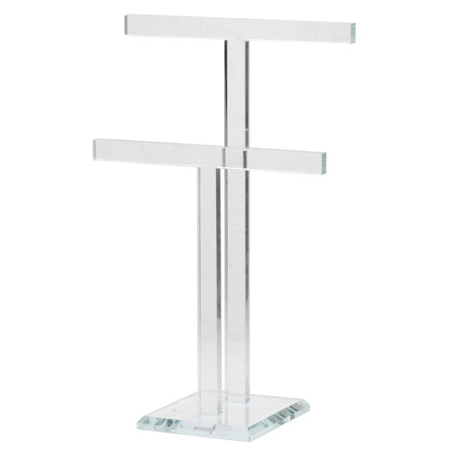 Clear Two-Tier Jewelry Rack