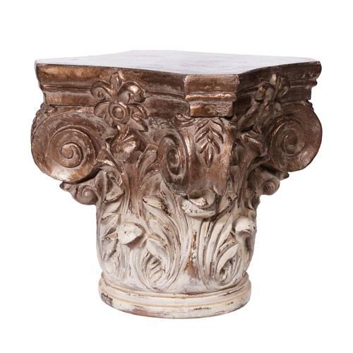 Cream and Bronze Pedestal