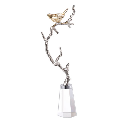 Silver and Gold Branch Figurine