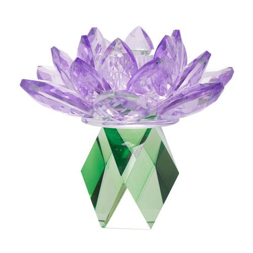 Lotus Purple Candle Holder