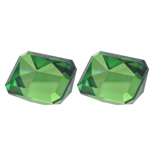 A & B Home Faux Emerald Rectangular Tabletop Sculpture, Set of 2