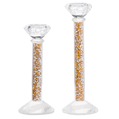 A & B Home Tallulah Stemmed Candle Holders, Set of Two