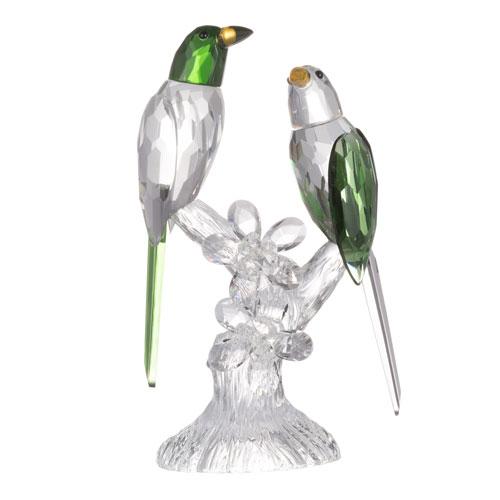A & B Home Parrot Green Elegance Duo Sculpture