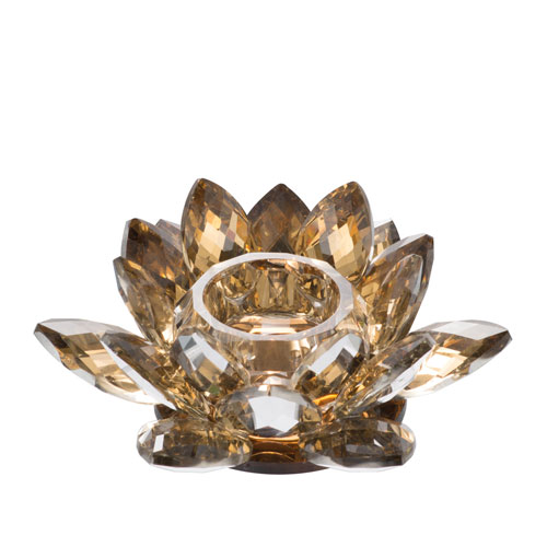 Lotus Gold Candle Holder
