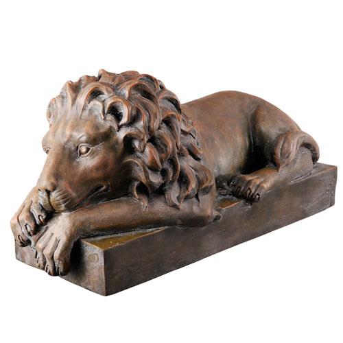 Bronze Resting Lion