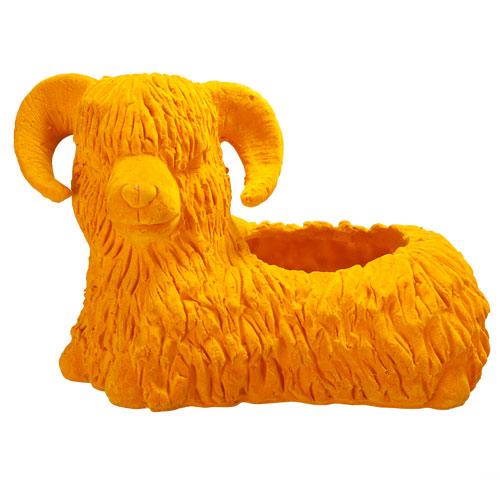 Yellow Sheep Accent Dish