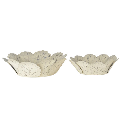 Cream Set of Two Bowls