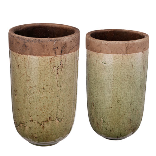 Brown and Grey Vase, Set of Two