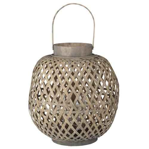 Coconio Wood Lattice Oval Lantern