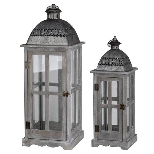 A & B Home Urban Scape Lanterns, Set of Two