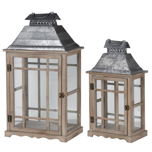 Classic Scape Lanterns, Set of Two
